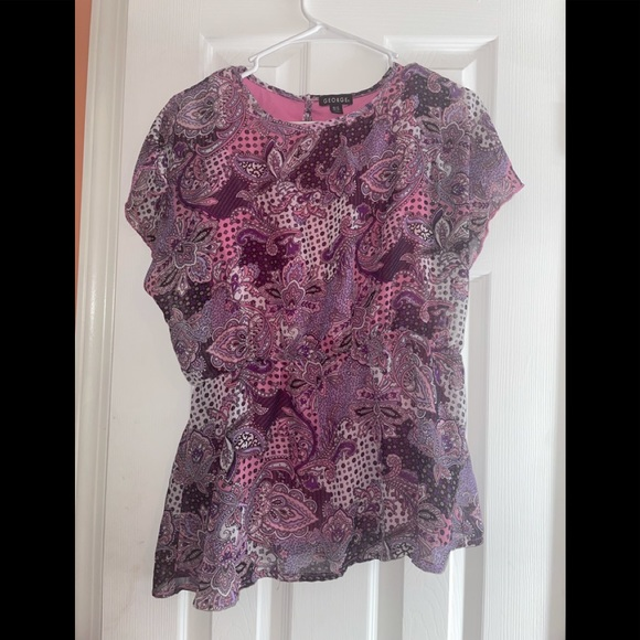 George Pink Patterned Blouse